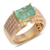 ILIANA 18K YG Boyaca Colombian Emerald, Diamond Ring (Size 7.0) TDiaWt 0.68 cts, TGW 2.90 cts.