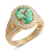 ILIANA 18K YG Boyaca Colombian Emerald, Diamond Ring (Size 7.0) TDiaWt 0.74 cts, TGW 2.84 cts.