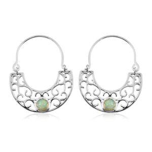 Ethiopian Welo Opal Sterling Silver Earrings TGW 0.92 cts.