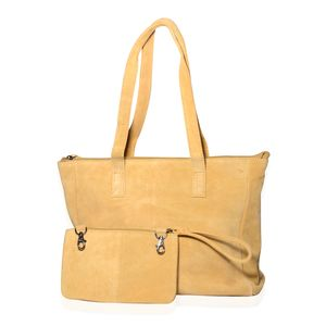 Ochre Genuine Leather Shoulder Bag with RFID Clutch (12.75x411.25 in)