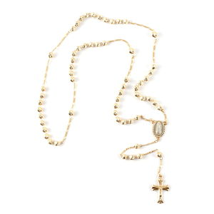 Goldtone Rosary Necklace (20 in)