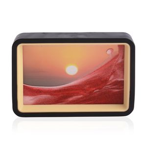 Home Décor Sunset Pattern Sand Picture with Mirror (6.4x4.4 in)