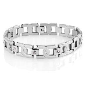 Austrian Crystal Stainless Steel Bracelet (8.50 In)