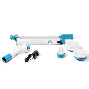 One Time Only Set of 4 White and Blue Multi-Function Spin Scrubber