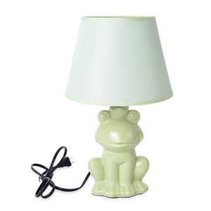 Home Decor Light Green Ceramic Frog Design Table Lamp