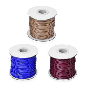 Gem Workshop Set of 3 Multi Color Roll Wax Cord