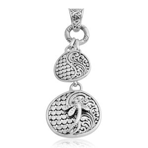 Bali Legacy Collection Sterling Silver Dragonfly Engraved Pendant without Chain