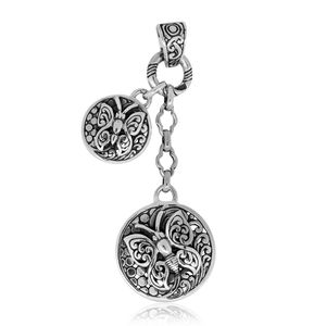 Bali Legacy Collection Sterling Silver Butterfly Pendant without Chain (7.9 g)