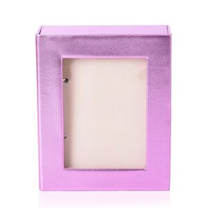 Pink 4 Page Earrings Book with Transparent window (8.6x7.1x2.5 in)