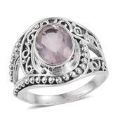 Galilea Rose Quartz Sterling Silver Ring (Size 5.0) TGW 3.13 cts.