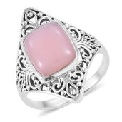 Artisan Crafted Peruvian Pink Opal Sterling Silver Ring (Size 10.0) TGW 4.05 cts.