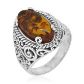 Bali Legacy Collection Baltic Amber Sterling Silver Ring (Size 9.0)