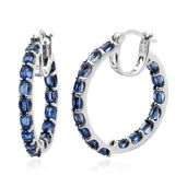 Himalayan Kyanite Platinum Over Sterling Silver Inside Out Hoop Earrings TGW 8.55 cts.