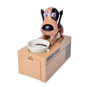 Brown Spotty Dog Eat Coin Bank Box (6.5x3.19x6.6 in)
