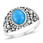 Artisan Crafted Arizona Sleeping Beauty Turquoise Sterling Silver Ring (Size 11.0) TGW 2.38 cts.