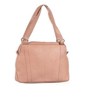 Customer Appreciation Day Blush 100% Genuine Leather RFID Shoulder Bag (14x3.5x9.75 in)