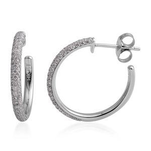 14K WG Diamond (G I2) Hoop Earrings TDiaWt 0.61 cts, TGW 0.61 cts.