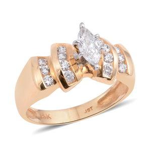 14K YG Diamond (H I2) Ring (Size 7.0) TDiaWt 0.75 cts, TGW 0.75 cts.