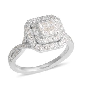 14K WG Diamond (H I2) Ring (Size 7.0) TDiaWt 1.00 cts, TGW 1.00 cts.
