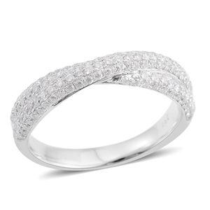14K WG Diamond (H I2) Ring (Size 6.0) TDiaWt 0.75 cts, TGW 0.75 cts.