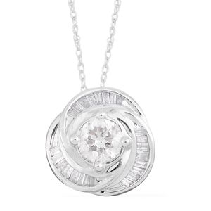 10K WG Diamond (I2) Pendant with Chain (18 in) TDiaWt 1.00 cts, TGW 1.00 cts.