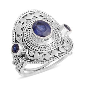 Artisan Crafted Masoala Sapphire Sterling Silver Ring (Size 7.0) TGW 3.48 cts.