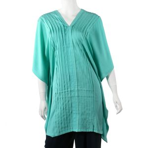 Green Aquamarine Cover up Rayon Poncho (One Size)