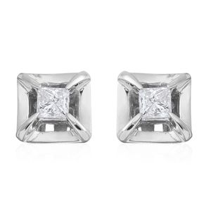 10K WG Diamond (H I1) Stud Earrings TDiaWt 0.75 cts, TGW 0.75 cts.