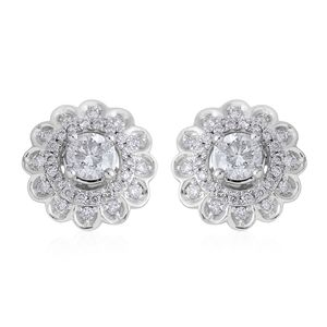 14K WG Diamond (H I2) Stud Earrings TDiaWt 1.00 cts, TGW 1.00 cts.