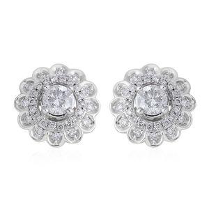14K WG Diamond (H I2) Stud Earrings TDiaWt 1.00 cts, TGW 1.00 cts.