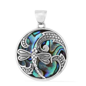 Bali Legacy Collection Abalone Shell Sterling Silver Pendant without Chain