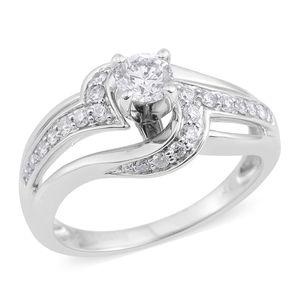14K WG Diamond (H I1) Ring (Size 7.0) TDiaWt 0.63 cts, TGW 0.63 cts.