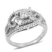 10K WG Diamond (I I1) Ring (Size 7.0) TDiaWt 0.75 cts, TGW 0.75 cts.