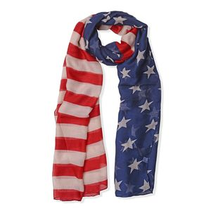 100% Polyester USA National Flag Pattern Scarf (72x34 in)