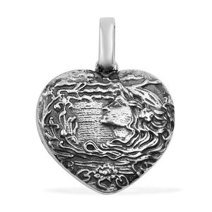 Sterling Silver Heart Pendant without Chain