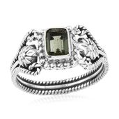Artisan Crafted Bohemian Moldavite Sterling Silver Ring (Size 11.0) TGW 0.79 cts.
