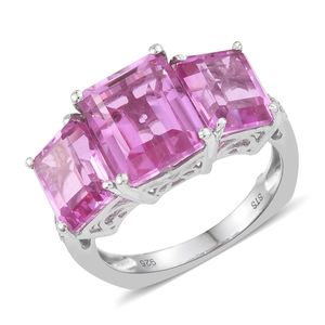 African Lilac Quartz, Ruby, Cambodian Zircon Platinum Over Sterling Silver Ring (Size 7.0) TGW 10.38 cts.