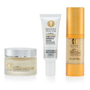 Manuka Doctor-3 Piece Set (Illusionist Rapid Lift Mask 1.35 fl oz, Targeted Wrinkle Filler 0.51 fl oz, Api Refine Gold Dust Firming Serum 1.10 fl oz)