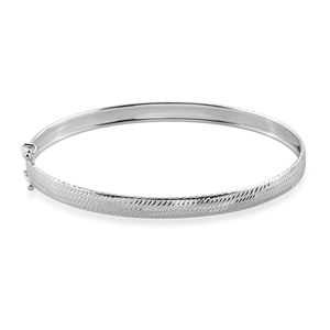 Bali Legacy Collection 10K WG Bangle (7.25 in)