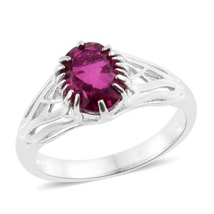 Radiant Orchid Quartz Platinum Over Sterling Silver Ring (Size 7.0) TGW 3.15 cts.