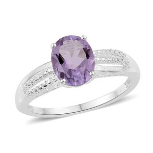 Rose De France Amethyst Sterling Silver Ring (Size 7.0) TGW 2.35 cts.