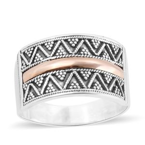 Bali Legacy Collection 14K YG Over Sterling Silver Ring (Size 7.0)