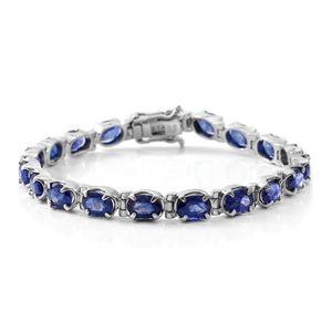 Masoala Sapphire Sterling Silver Tennis Bracelet (6.50 In) TGW 18.00 cts.