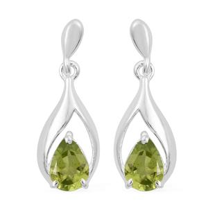 Hebei Peridot Sterling Silver Earrings TGW 1.50 cts.