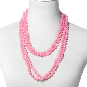 July 4th DOORBUSTER Burmese Pink Jade Beads Endless Necklace (100 in) TGW 1112.50 cts.