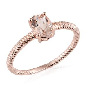 Host Pick, Marropino Morganite Vermeil RG Over Sterling Silver Solitaire Ring (Size 10.0) TGW 1.10 cts.