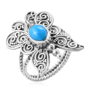 Bali Legacy Collection Arizona Sleeping Beauty Turquoise Sterling Silver Ring (Size 7.0) TGW 1.53 cts.
