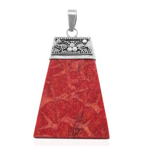 Bali Legacy Collection Sponge Coral Sterling Silver Pendant without Chain TGW 7.00 cts.