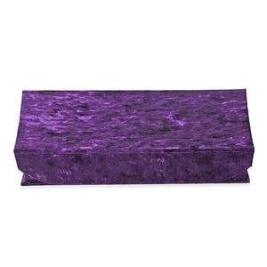 Dark Purple New Long Hair Velvet Jewelry Box with Magnetic Lock (6 Necklace Hooks and 8 Ring Row) (12.2x10.2x2.2 in)