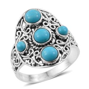 Artisan Crafted Arizona Sleeping Beauty Turquoise Sterling Silver Ring (Size 7.0) TGW 1.85 cts.